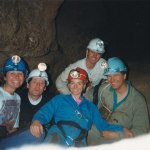 Caving with friends at Bungonia. (I'm on the left)