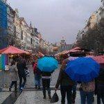 Rainy day in Prague, Czech Republic